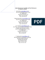 Information Technology Infrastructure Capability and Firm Performance