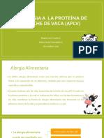 Alergia a Proteína de Leche de Vaca (