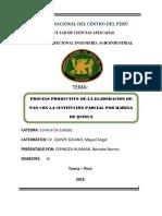 Elaboracion de Pan CONTROL de CALIDAD