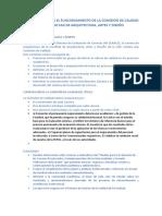 Reglamento Para El Funcionamiento de La Comisión de Calidad de La Escuela de Arquitectura