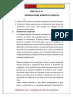 Practica 3 Refri-CURVAS DE CONGELACIÓN DE ALIMENTOS CÁRNICOS