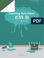 CSS 3 Cheat Sheet