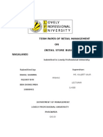 Term Paper of Retail Management