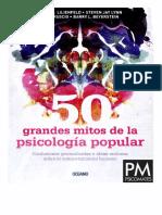 Lilienfeld, S. 50 Grandes Mitos de La Psicología Popular