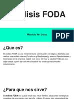 Análisis FODA - Mauricio Atri Cojab