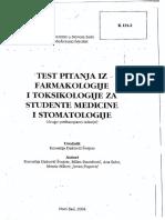 Test Pitanja Iz Farmakologija - Kornelija Đaković-Švajcer - SPARKS