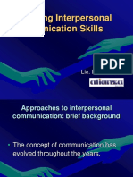 Interpersonal Communication316 165