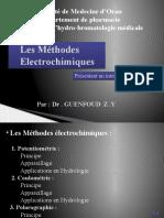 Les Méthodes Électrochimiques