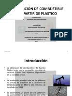 Plástico en petroleo