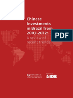 CBBC - Chinese Investments in Brazil From 2007-2012