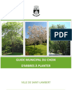 Guide Municipal Du Choix Darbres a Planter