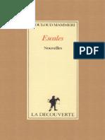 Escales - Mouloud Mammeri