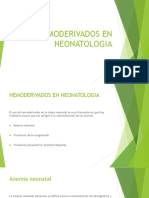 Hemoderivados en Neonatologia