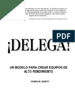 Delega-Coaching y Trabajo en Equipo