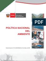 Dec Política Nacional Del Ambiente