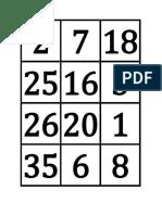 Tarjetas de Números