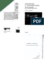 Agostini, Franda D - Analiticos y Continentales (TB)