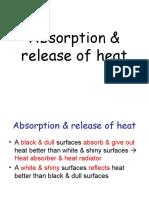 Absorption of Heat