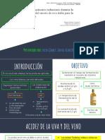 Estudio de fermentación alcohólica y azucares reductores del vino