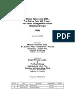 Mill Sands Management System Report Rev 0