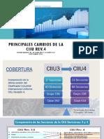 Principales Cambios en La Clasificación Internacional Industrial Uniforme (CIIU Rev. 4)