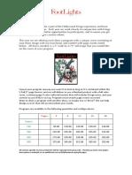 Footlights Fringe Benefits 2018