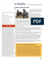 Zambia Weekly - Week 37, Volume 1, 17 September 2010