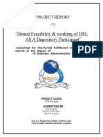Demat Feasibility Working of HSL as a Depository Participa