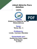 Tarea 1 Didactica de Las Matematicas Elsa