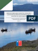 Reporte Ministerio Medio Ambiente de Chile