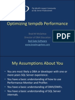 Optimizing Tempdb Performance