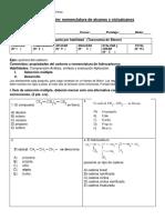 Prueba Quimica Organica 1