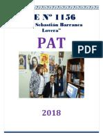 Ediciones  PAT Plan Anual de Trabajo de la I.E. N° 1156-JSBL-Ccesa007