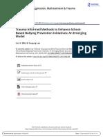 Blitz -Trauma-Informes Methods to Enhance Schoo-based Bullying Prevention