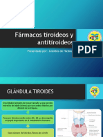 Fármacos Tiroideos y Antitiroideos2016