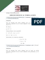 Solamentematemática-ejercicios Resueltos Teorema Del Resto