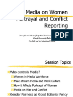 Media on Women and Conflict Reportage - Final