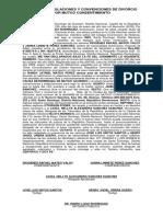 Acto de Estipulaciones y Convenciones de Divorcio Por Mutuo Consentimiento de Diogenes Rafael Mateo Valoy