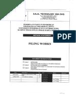 Upsi- Method Statements Piling Works