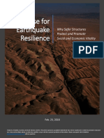The Case for Earthquake Resilience - White Paper