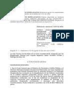 Corte Constitucional - Auto 176 del 29 de agosto de 2005