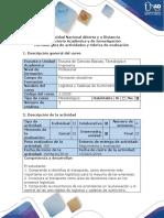 Guía de actividades y rúbrica de evaluación - Fase 4 - Caracterizar el transporte en una empresa