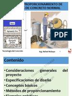 Diseño y Proporcionamiento de Mezclas de Concreto Normal_Prof. Rafael Robayo