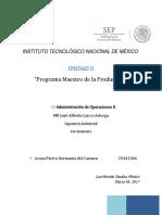 Programa Maestro de La Produccion