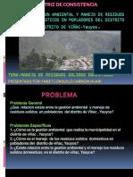 GESTION AMBIENTAL Y MANEJO DE RESIDUOS SOLIDOS DOMESTICOS EN POPLADORES DEL DISTRITO DISTRITO DE VIÑAC-Yauyos.