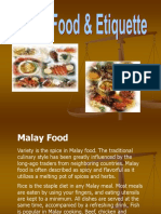 Malay Culture Project - Malay Food & Etiquette