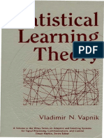 Vladimir N. Vapnik Statistical Learning Theory 1998