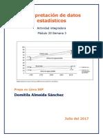 Interpretación de Datos Estadísticos