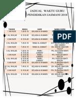 Jadual Pj 18
