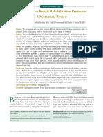 Flexor Tendon Repair Rehabilitation Protocols- A Systematic Review